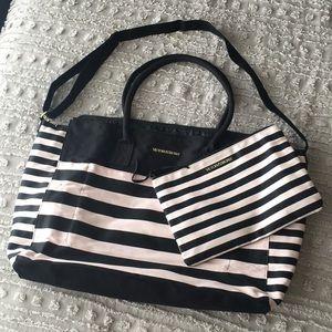 Lg Victoria's Secret canvas tote bag + small bag
